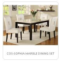 COS-SOPHIA MARBLE DINING SET
